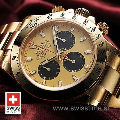 Rolex Daytona Gold Gold Black-1620