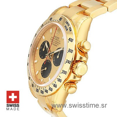 Rolex Daytona Gold Gold Black-1619