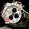 Rolex Daytona Gold White Arabic Dial | Luxury Replica Watch