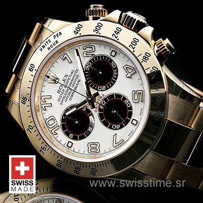 Rolex Daytona Gold White Arabic Dial | Luxury Replica Watch