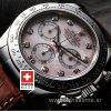 Rolex Daytona Leather Strap Diamond Dial | Swisstime Watch