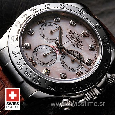 Rolex Daytona Leather SS MOP-1731