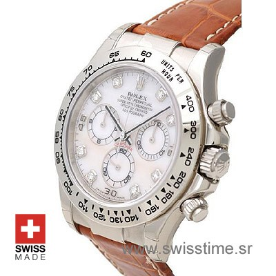 Rolex Daytona Leather SS MOP-1730