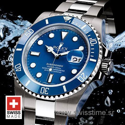 Rolex Submariner SS Blue Ceramic-1859