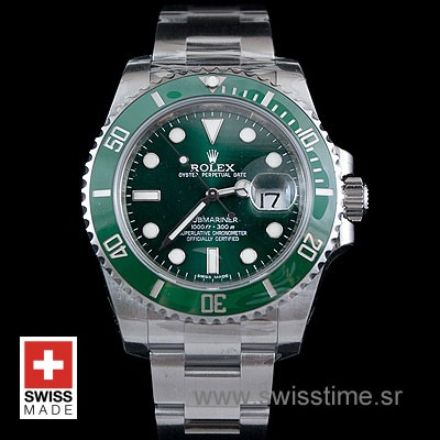 Rolex Submariner SS Green Ceramic-1869