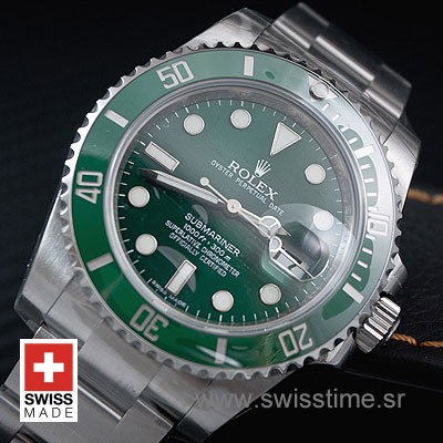 Rolex Submariner Green Dial Ceramic Bezel | Swisstime Watch