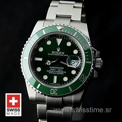 Rolex Submariner SS Green Ceramic-1875