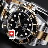Rolex Submariner Black Dial Two Tone Swiss Replica Watch