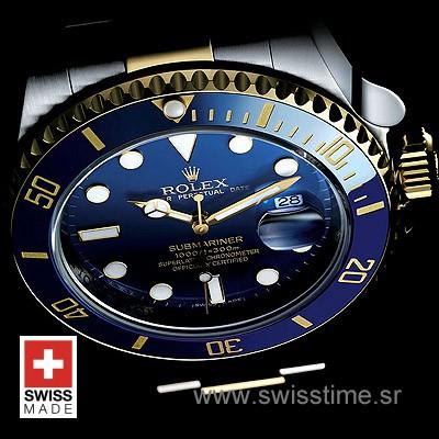 Rolex Submariner 2-Tone Blue Ceramic Swiss Replica