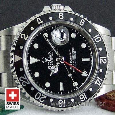 Rolex GMT Master II Black SS-1074