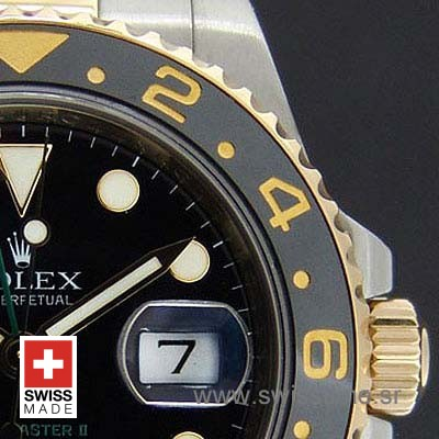 Rolex GMT Master II 2Tone Black Ceramic 40mm