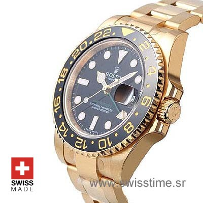 Rolex GMT Master II Gold Black Ceramic-1094