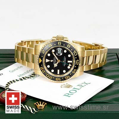 Rolex GMT Master II Gold Black Ceramic-1099