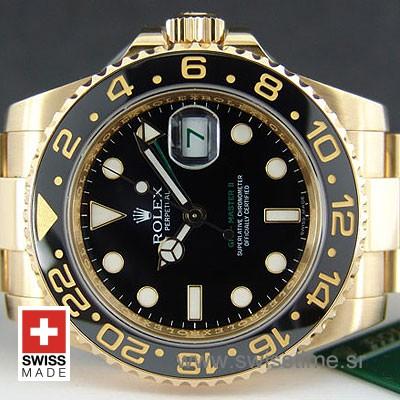 Rolex GMT Master II Gold Black Ceramic-1095