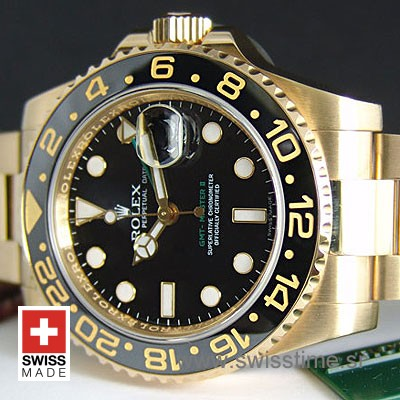 Rolex GMT Master II Gold Black Ceramic-1098