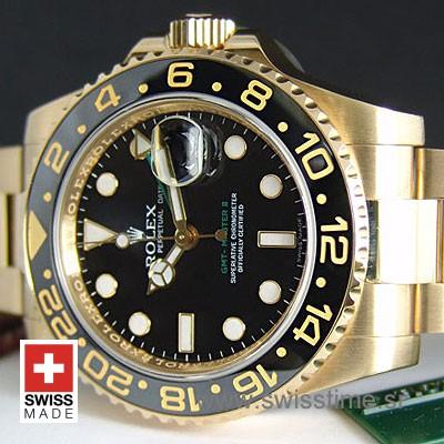 Rolex GMT Master II Gold Black Ceramic-1098