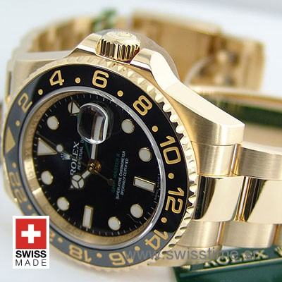 Rolex GMT Master II Gold Black Ceramic-1096