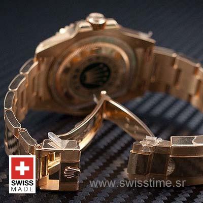 Rolex GMT Master II Yellow Gold Green Dial   Swisstime Watch