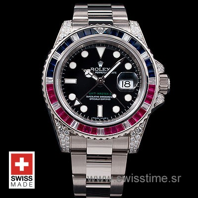 Rolex GMT Master II Blue-Red Ruby SS-1080
