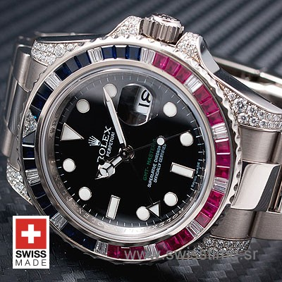 Rolex GMT Master II Blue-Red Ruby SS-1081