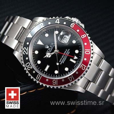 Rolex GMT Master II Red Black Bezel | Swisstime Replica Watch