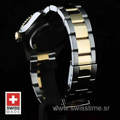 Rolex Submariner 2 Tone Black Dial   Swisstime Replica Watch