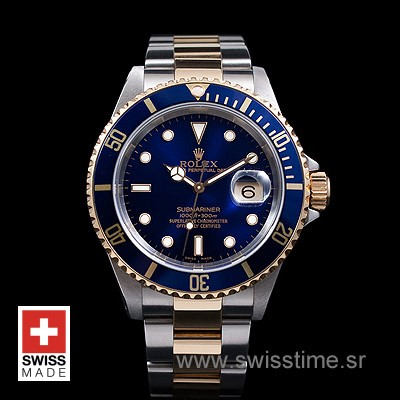 Rolex Submariner 2Tone Blue Swiss Replica