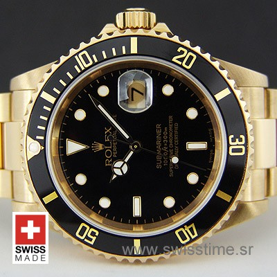 Rolex Submariner Gold Black