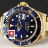 Rolex Submariner Gold Blue Dial   Luxury Swiss Replica Watch