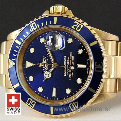 Rolex Submariner Gold Blue-1822
