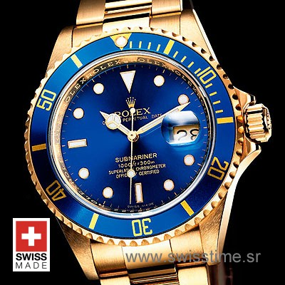 Rolex Submariner Gold Blue-1821