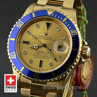 Rolex Submariner Gold Serti Gold-1836