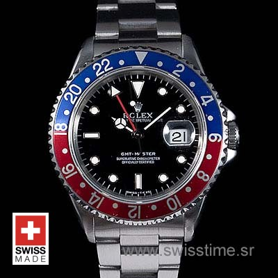 Rolex GMT Master II Blue-Red SS 40mm