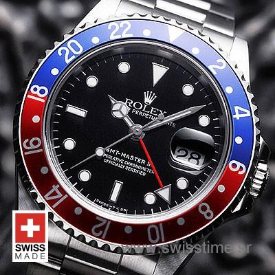 Rolex Gmt Master II Pepsi 40mm | White Gold Replica Watch