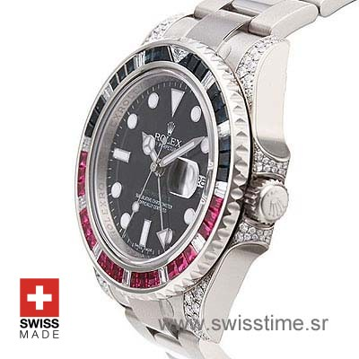 Rolex GMT Master II Blue-Red Ruby SS-1079