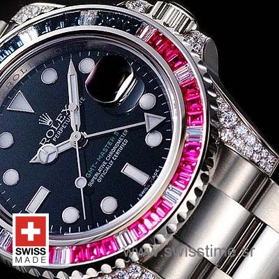 Rolex GMT Master II Blue-Red Ruby SS-1082