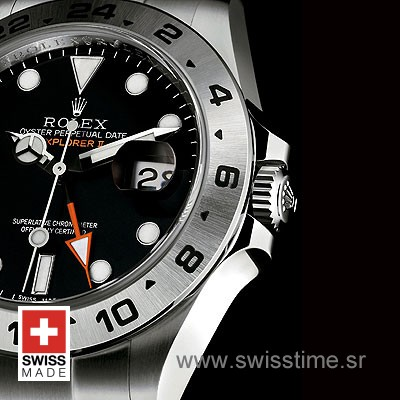 Rolex Explorer II 16570 Black Dial   Swiss Made Replica Watch