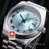 Rolex Day-Date II SS Blue Blue Roman-1233