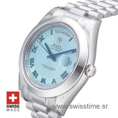 Rolex Day-Date II SS Blue Blue Roman-1231