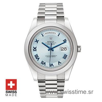 Rolex Day-Date II SS Blue Blue Roman-1232