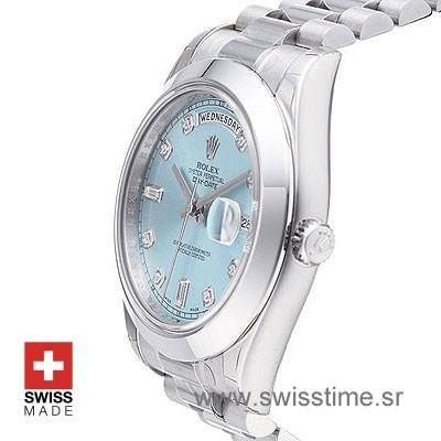 Rolex Day-Date II SS Blue Diamonds-1237