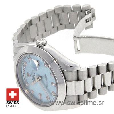 Rolex Day-Date II SS Blue Diamonds-1238
