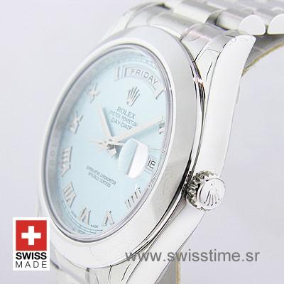 Rolex Day-Date II Blue Roman Dial   Swisstime Replica Watch