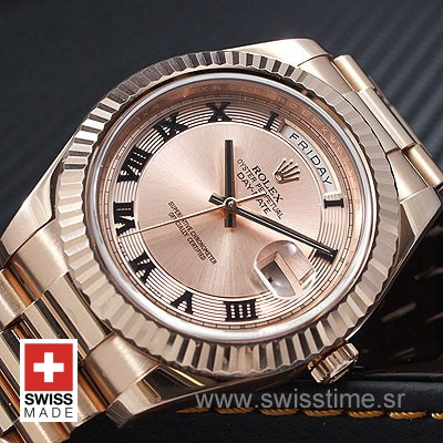 Rolex Day-Date II Rose Gold Gold Roman-1199