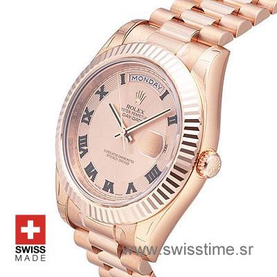 Rolex Day-Date II Rose Gold Gold Roman-1198