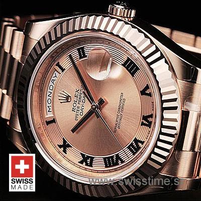 Rolex Day-Date II Rose Gold Gold Roman-1201