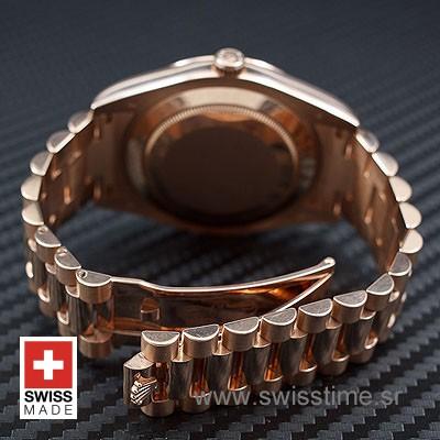 Rolex Day-Date II Rose Gold Black Arabic-1183