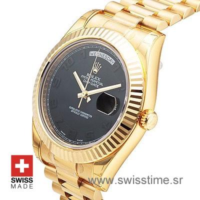 Rolex Day-Date II Gold Black Arabic-1132