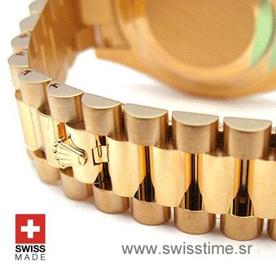 Rolex Day-Date II Gold Black Arabic-1133