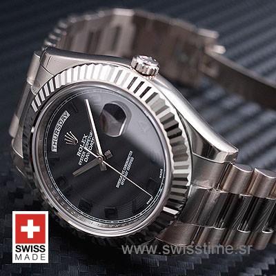 Rolex Day-Date II SS Black Arabic-1211